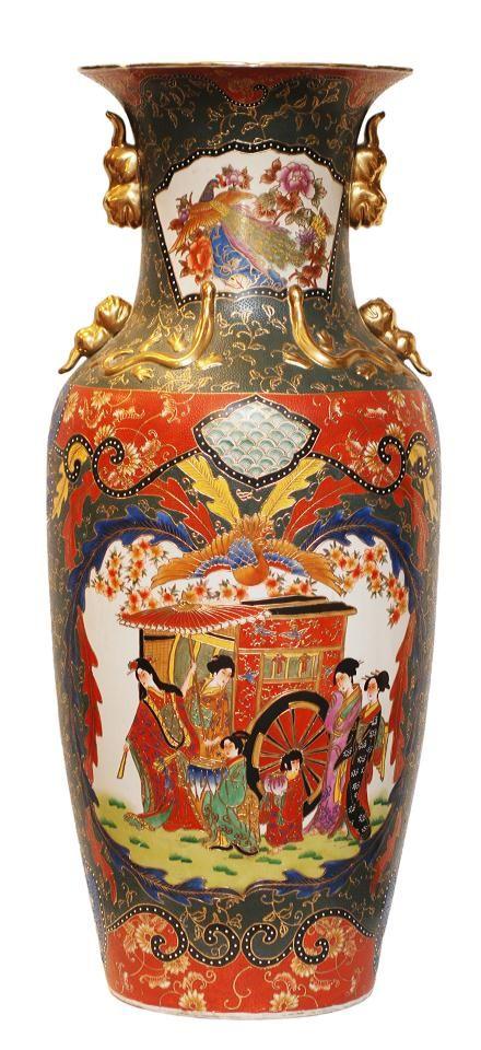 Palatial Chinese Porcelain Phoenix Floor Vase Elite Decorative