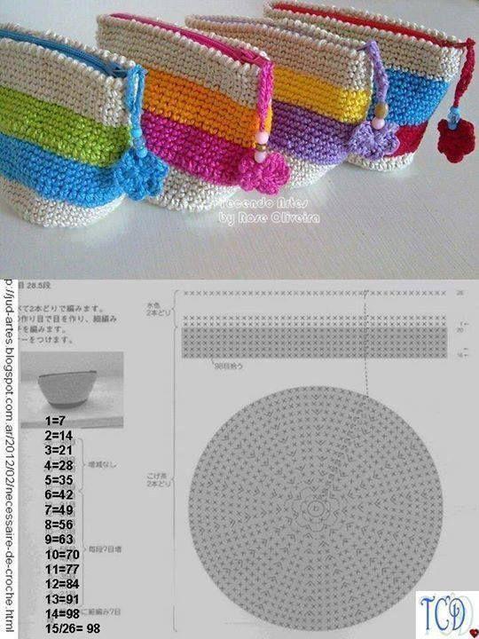 Luty Artes Crochet: Bolsas de crochê com gráficos   gancheando ...