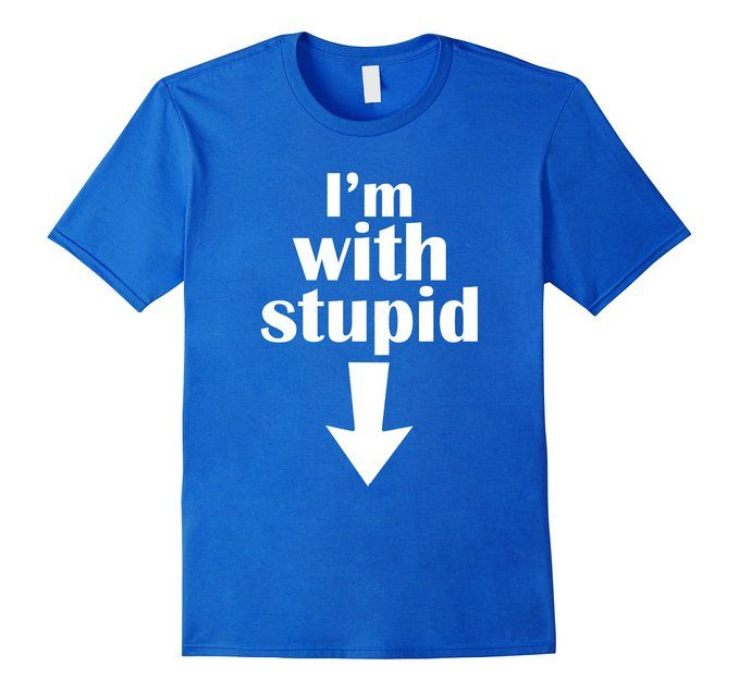 8773afe3 Amazon.com: I'm With Stupid Down Pointing Arrow Funny Joke T-Shirt: Clothing  pregnancy shirt