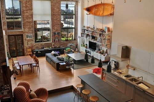 Brooklyn Appartment Home Loft Living Apartment Interior