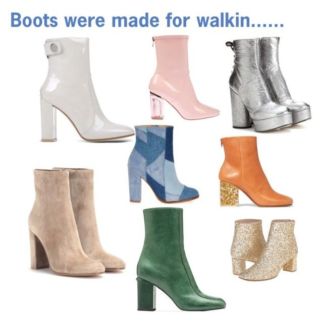 """Boots were made for walkin..."" by mdfletch on Polyvore featuring River Island, Gianvito Rossi, Marc Jacobs, Maison Margiela, Kate Spade, Marni, women's clothing, women, female and woman"