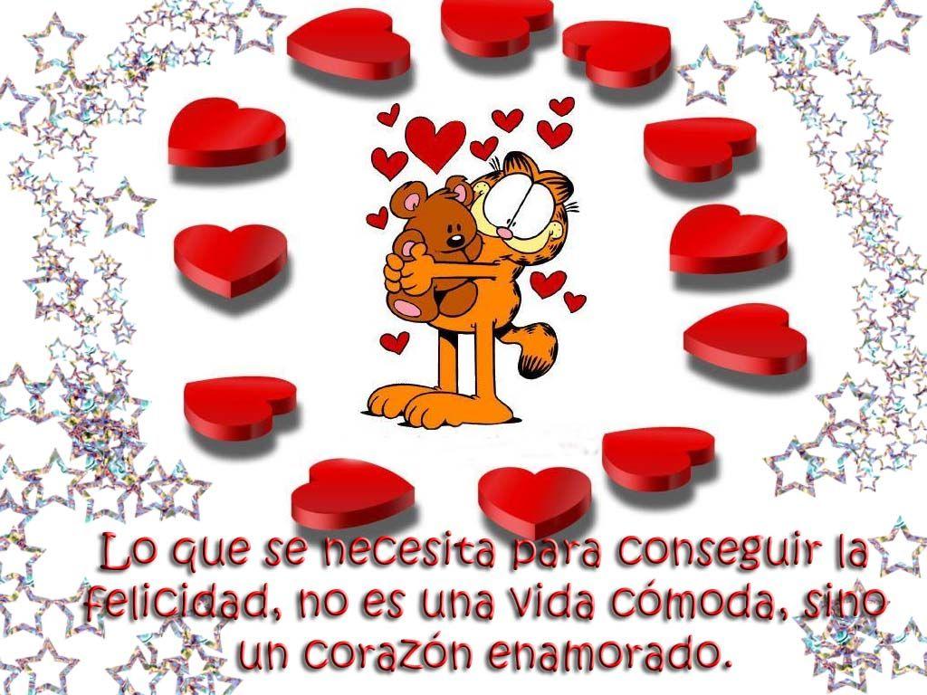 Frases De Amor Es Con Corazon: Imagenes Bellas De Garfield Con Frases De Amor