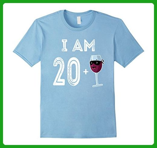 Mens 21 Years Old Red Wine Glass Gift 21st Birthday Shirt XL Baby Blue