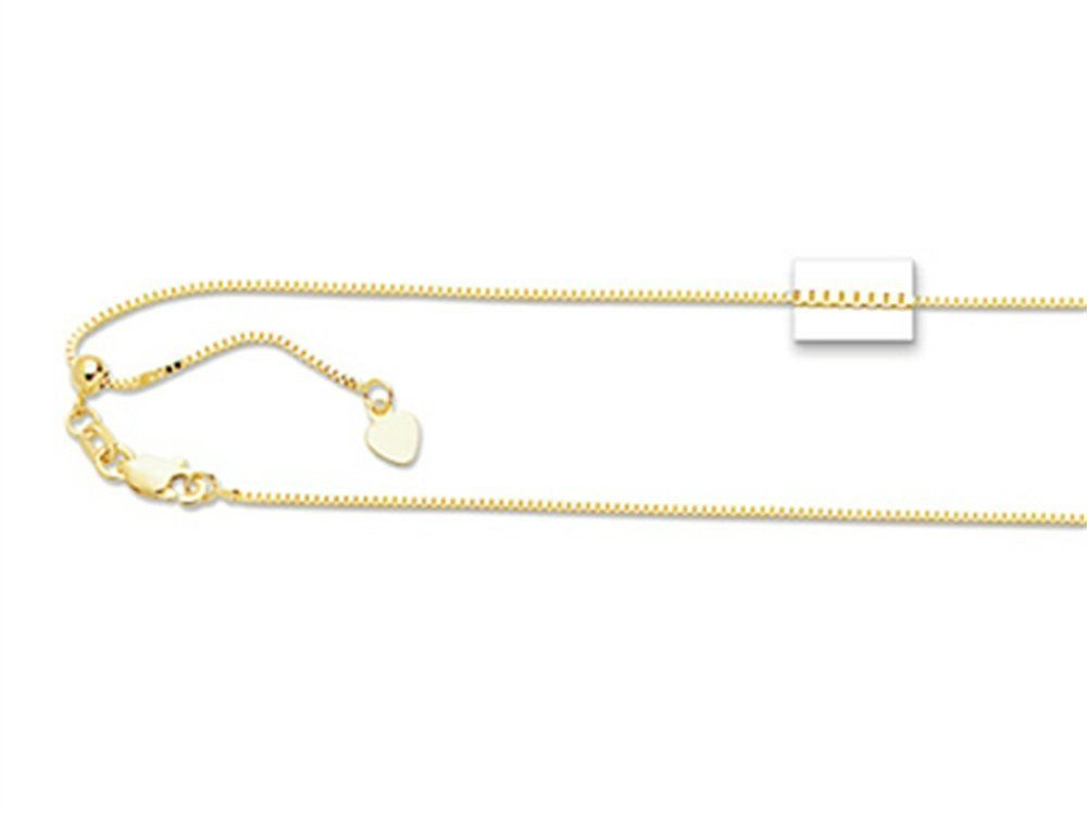 Pulling The Chain Delectable 14K 22 Inch Brightcut Adjustable Box Chain Necklace With Lobster Design Inspiration