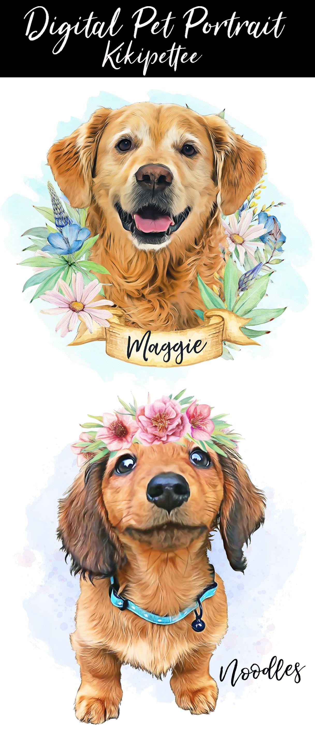 Digital Pet PortraitCustom dog portraitpet loss giftChristmas