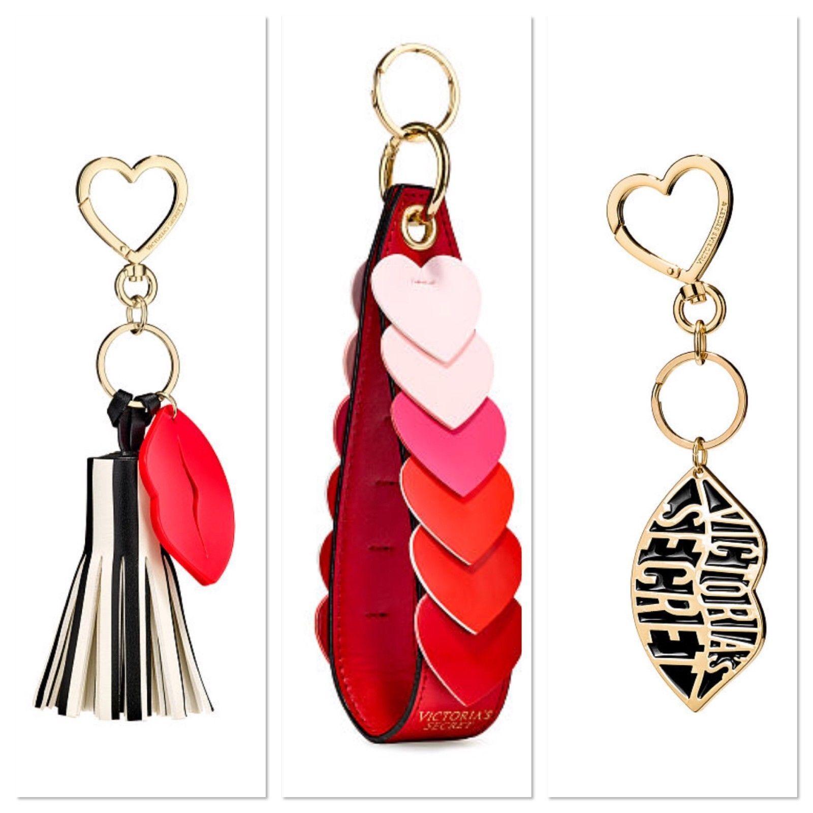 Victoria/'s Secret Charm Wristlet Strap Hearts Lip Tassel Your Pick