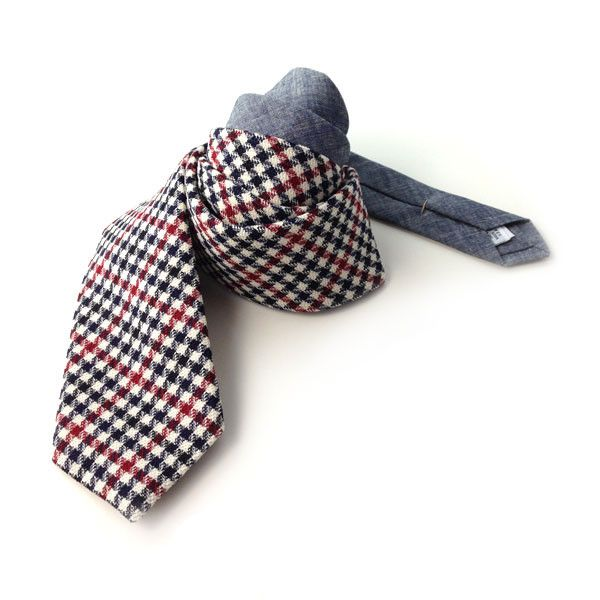 The Owen & Fred Tie, $98   http://www.owenandfred.com/products/the-owen-fred-tie-navy-and-red#