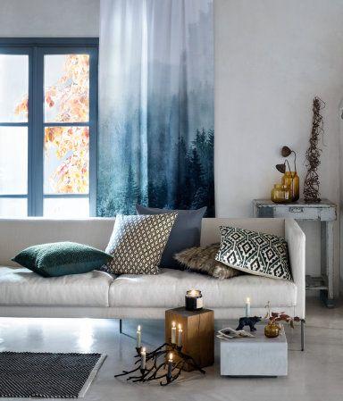 Kissenhülle aus Fellimitat Grau Home H\M AT HOME CRAVINGS - wohnzimmer grau rot