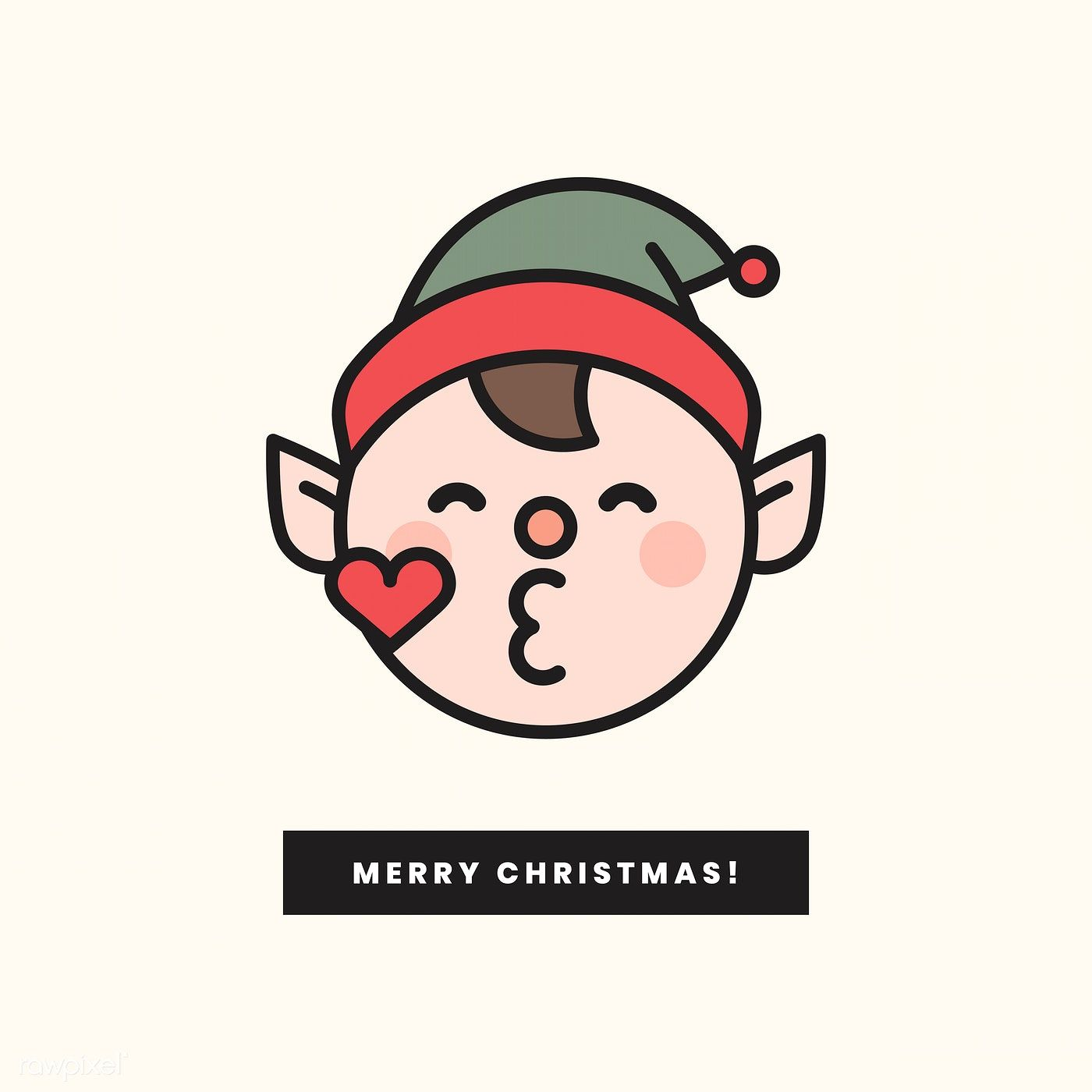 Download Premium Vector Of Merry Christmas Elf Emoticon And Merry