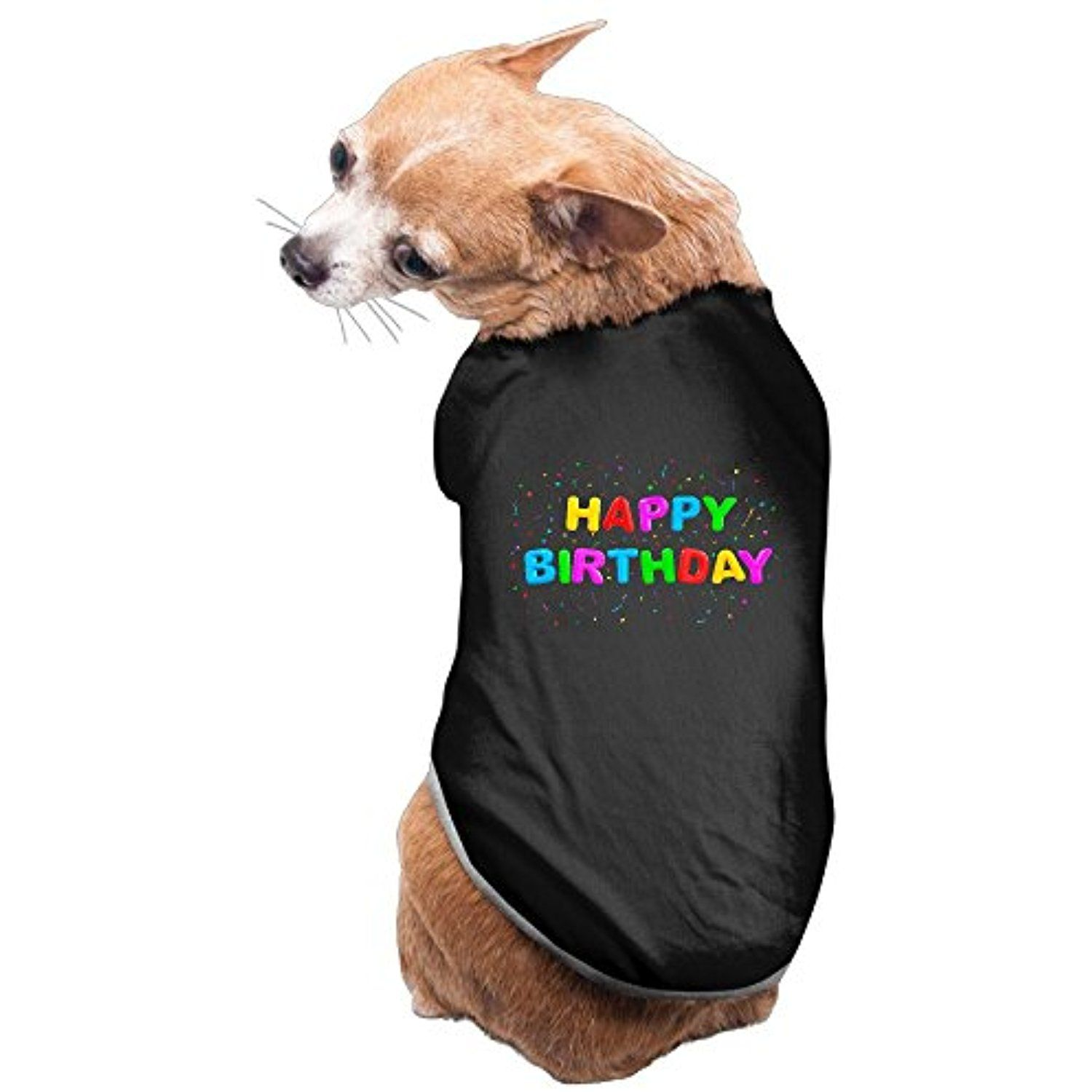 Balloon 3D Happy Birthday Cute Dog Pet Puppy Clothes Outdoor Shirt T 3