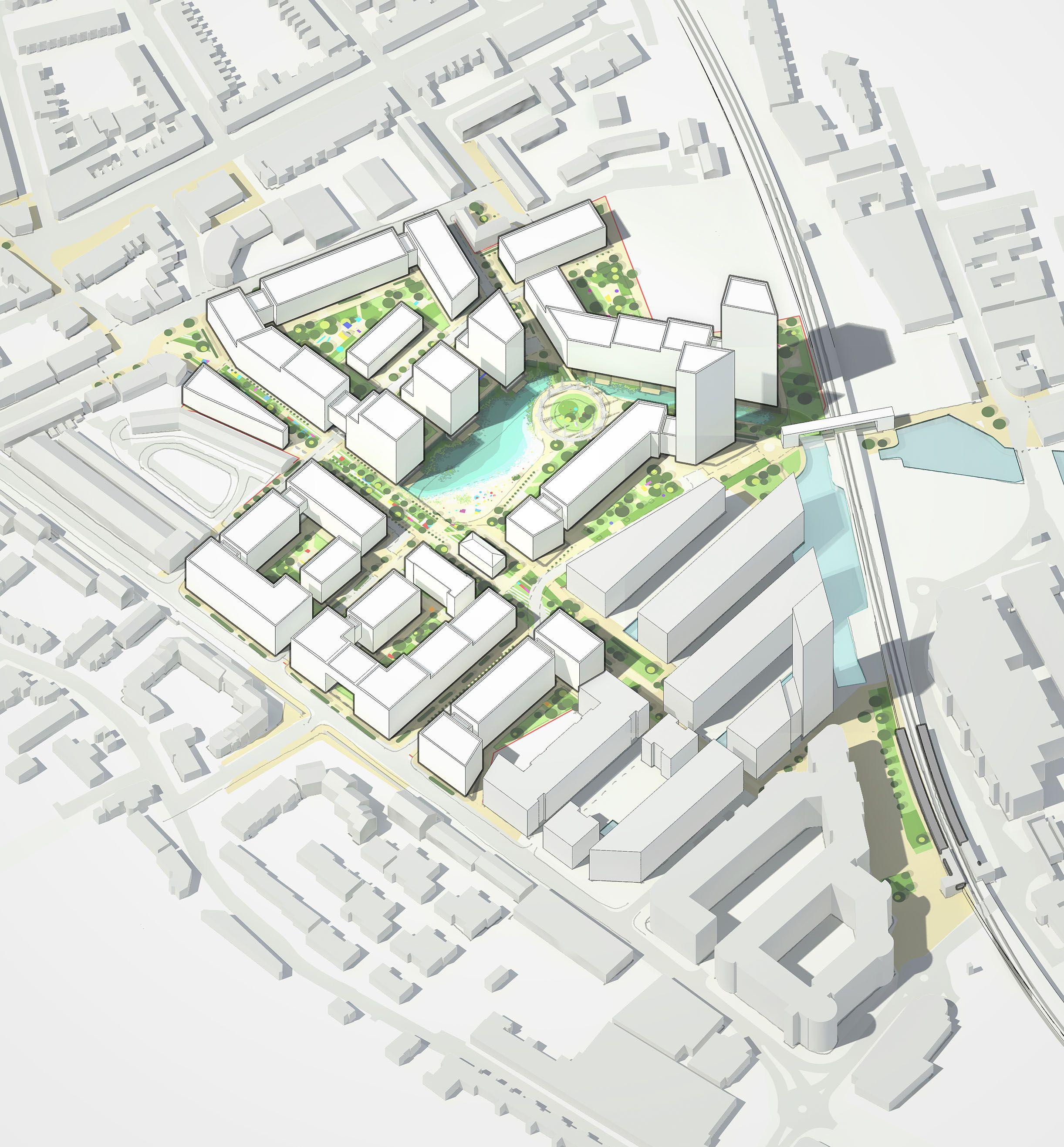 Project team: LDA Design, London | Diagrams | Urban design concept