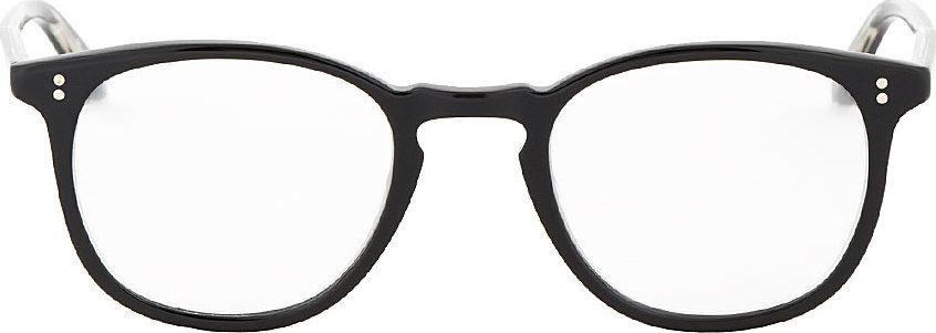 Garrett Leight - Black Minimalist Kinney Glasses
