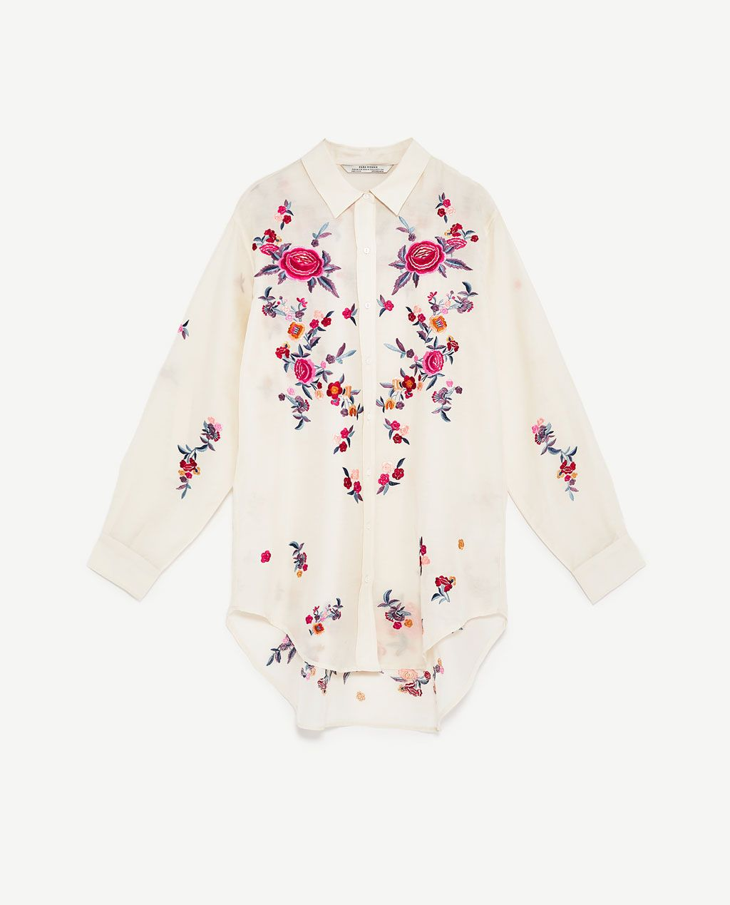 0de91327 Image 8 of EMBROIDERED SHIRT from Zara | WISHLIST | Shirt embroidery ...