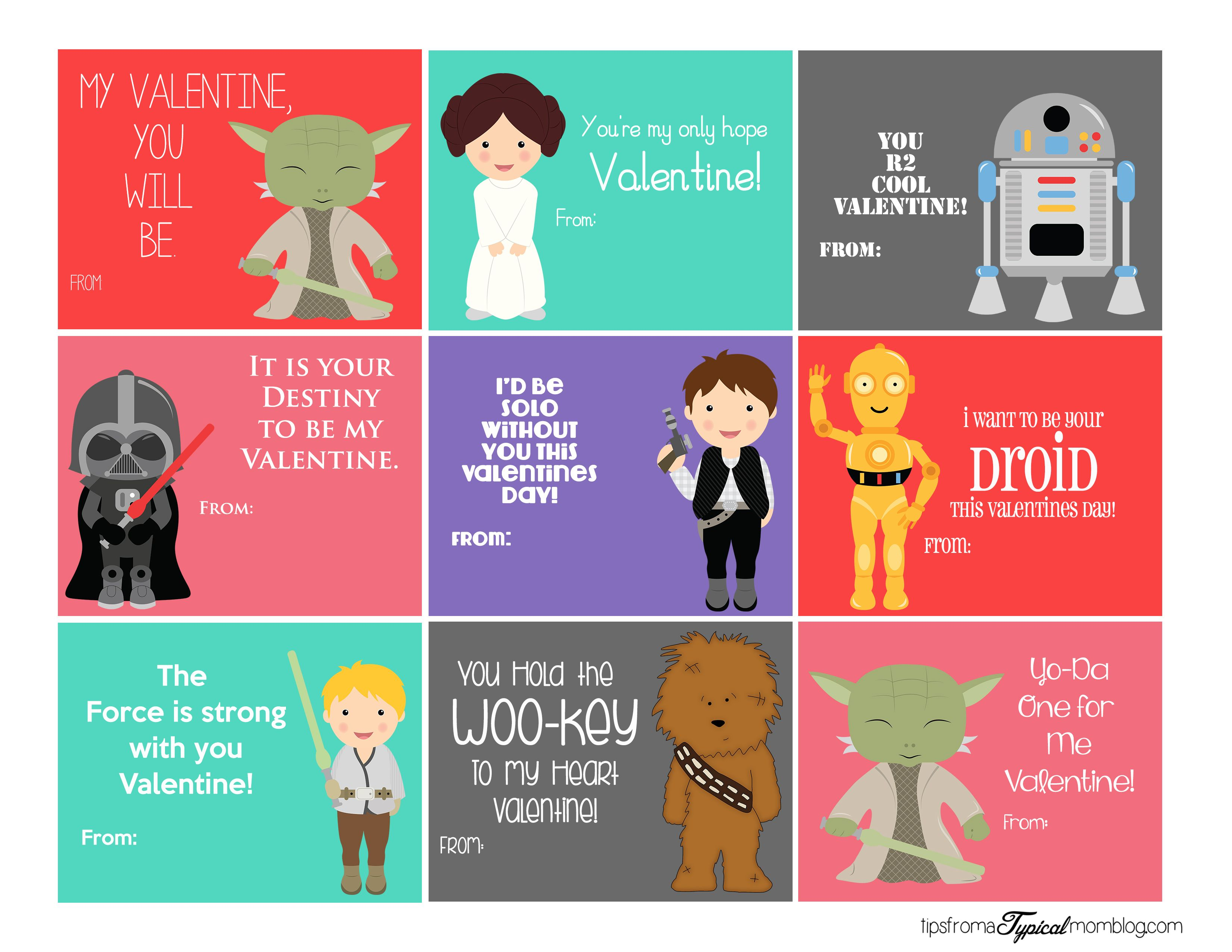image regarding Printable Star Wars Valentines named Pin upon Valentines Working day