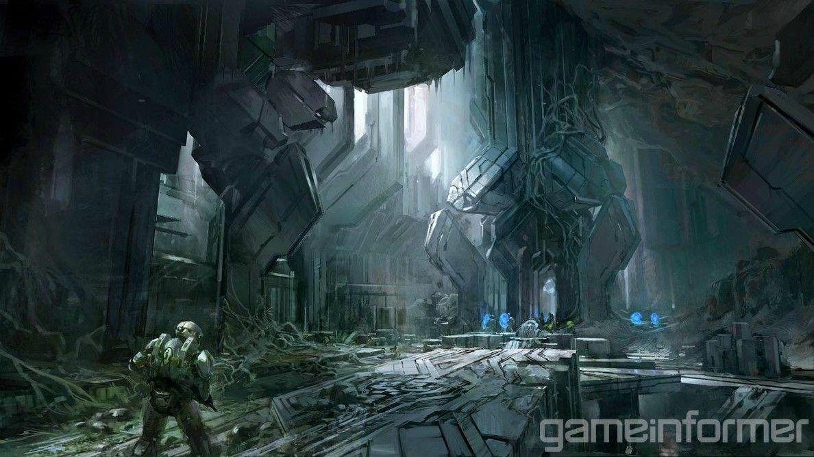 Halo 4 Forerunner Artwork Halo 4, Concept art, Halo