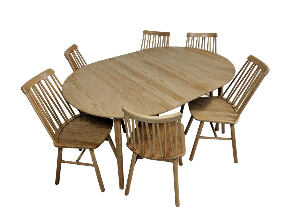 Scandinavian Zig Zig Dining Set With 6 Chairs Dining Table In Oiled Oak Hansk Scandinavian Dining Table Table Contemporary Modern Furniture