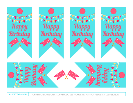 Printable Birthday Gift Tags Free PDF Template To Download And Print At