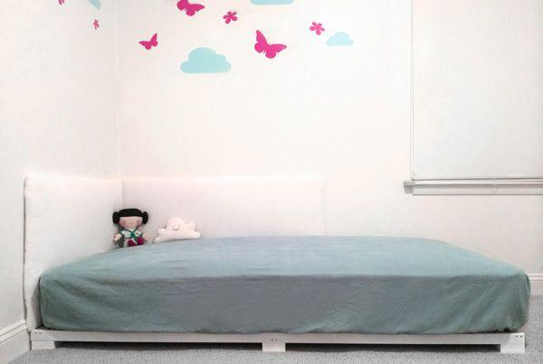 minimalist montessori toddler bed
