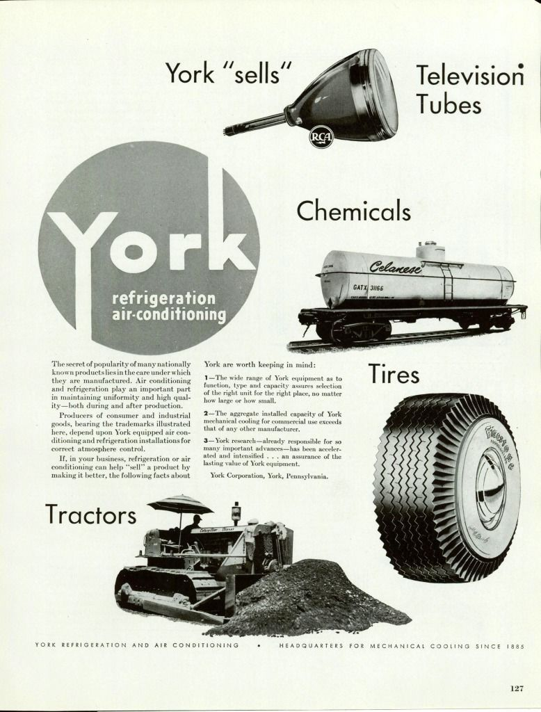 1949 AD York Refrigeration AirConditioning,Mechanical