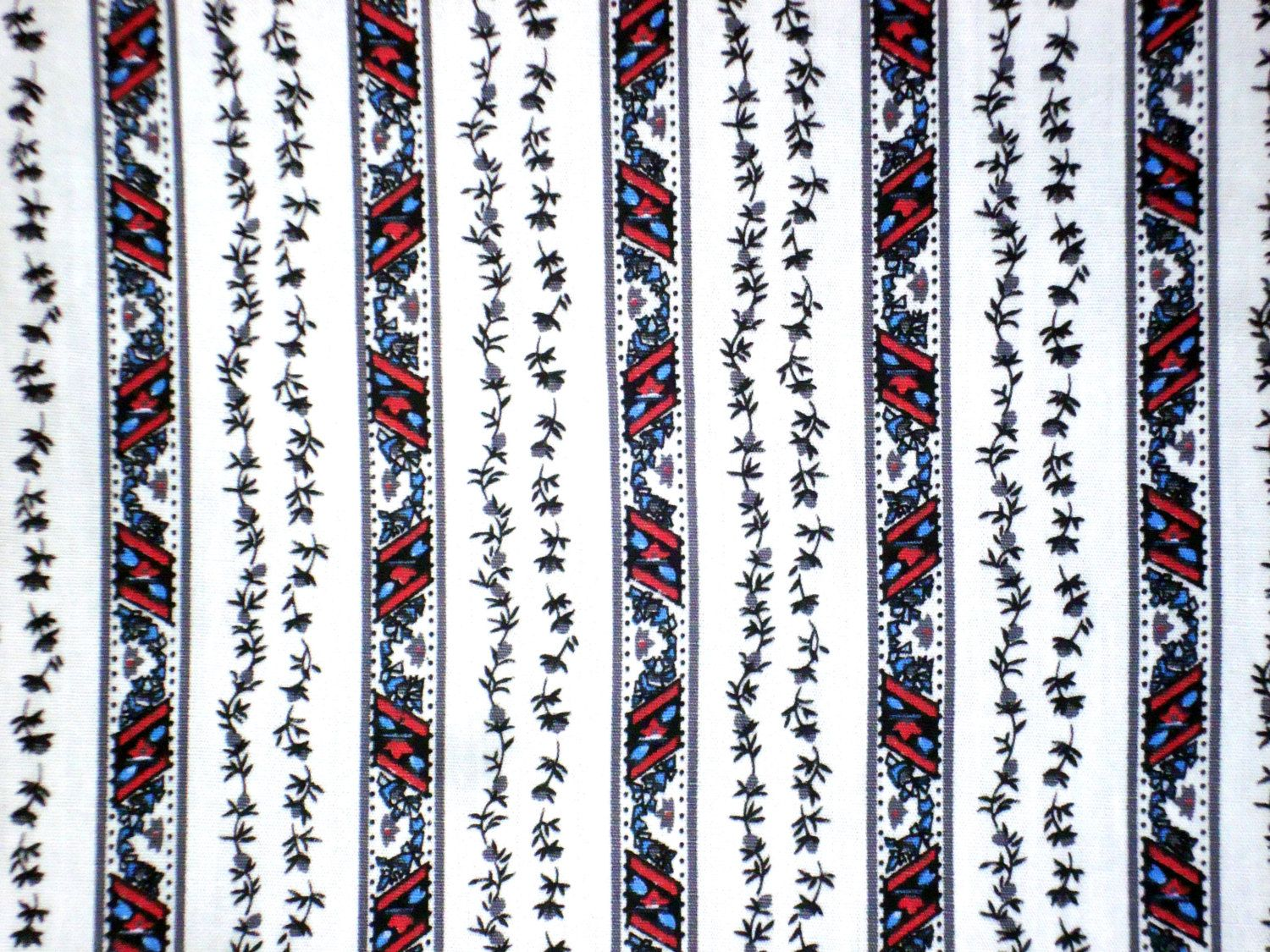 Tiny Roses Stripe on White-Grey stripe Red Blue Color-Garment supply-Men Shirt Fabric-Handcraft supply-Children wear Fabric-1Y80cm by HeavenKnow on Etsy