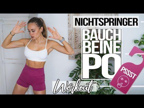 BAUCH BEINE PO HOME WORKOUT | STILLES 30 Minuten ohne Springen | Für Anfänger | ohne Equipment 💥 - YouTube