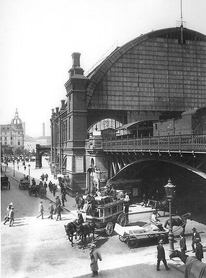Berlin 1898 Bahnhof Friedrichstrase von der Georgenstrasse aus gesehen #historyoftheworld