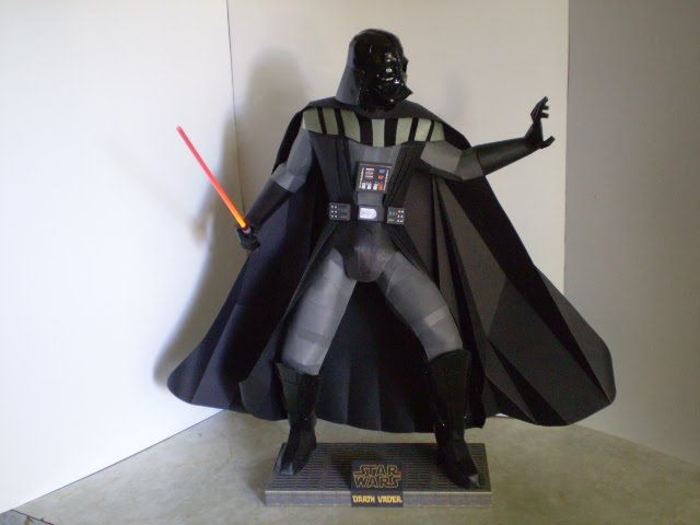 """Elso Craft Museo: """"Scratch PaperCraft"""" Lord Darth Vader"""