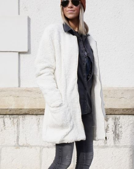 Manteau femme a babou