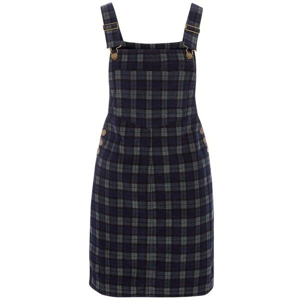 186af7294 Red Herring Dark green checked mini pinafore dress (€39) ❤ liked on ...