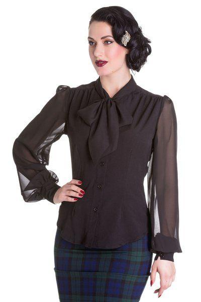 Hellbunny Bluse Kathleen Schwarz | Fashion & Clothing | Pinterest ...