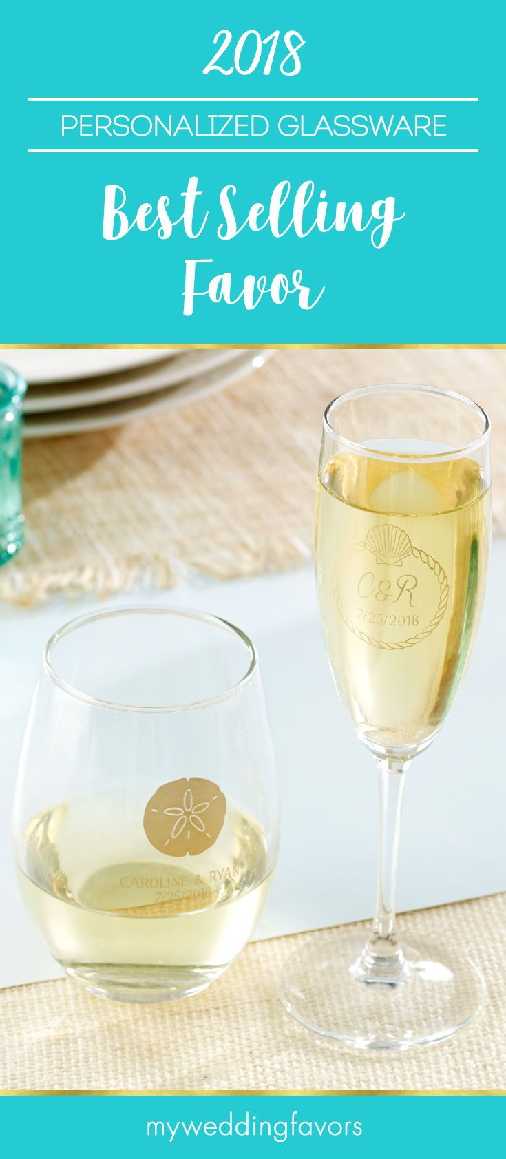 Whether you go for the bride-favorite personalized stemless wine ...