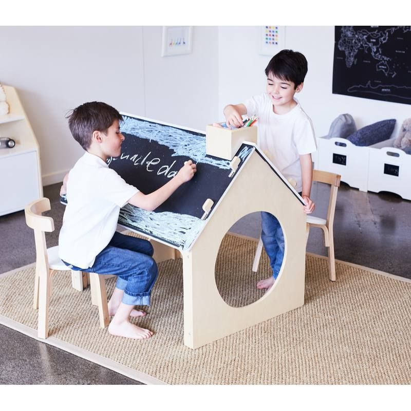 Kids Table And Chairs Activity Craft Tables Playhouse Reversible Chalkboard Table Wooden Toy Piano Muebles Para Ninos Escritorios Para Ninos Muebles Ninos