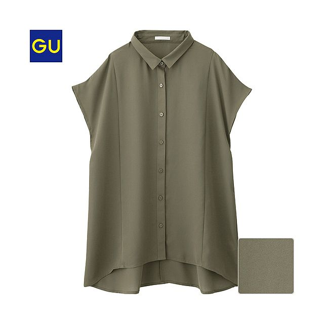 GU(GU)エアリーシャツ(半袖) - GU ジーユー
