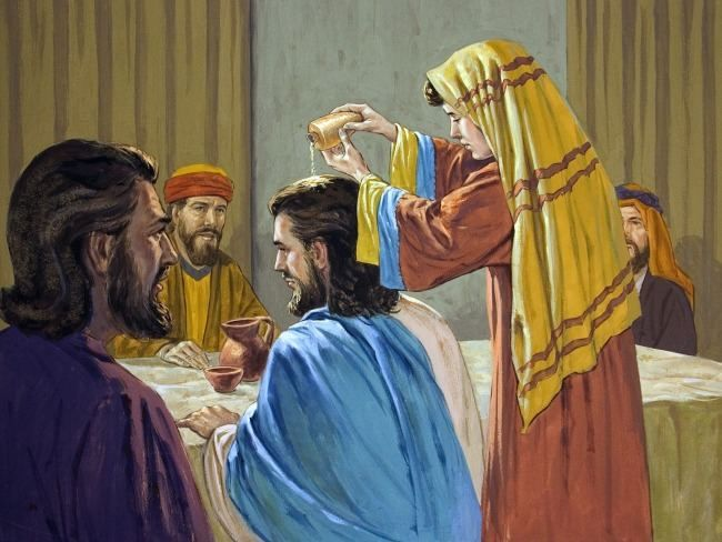 Mary Anoints Jesus At Bethany Easter Week In Pictures Series