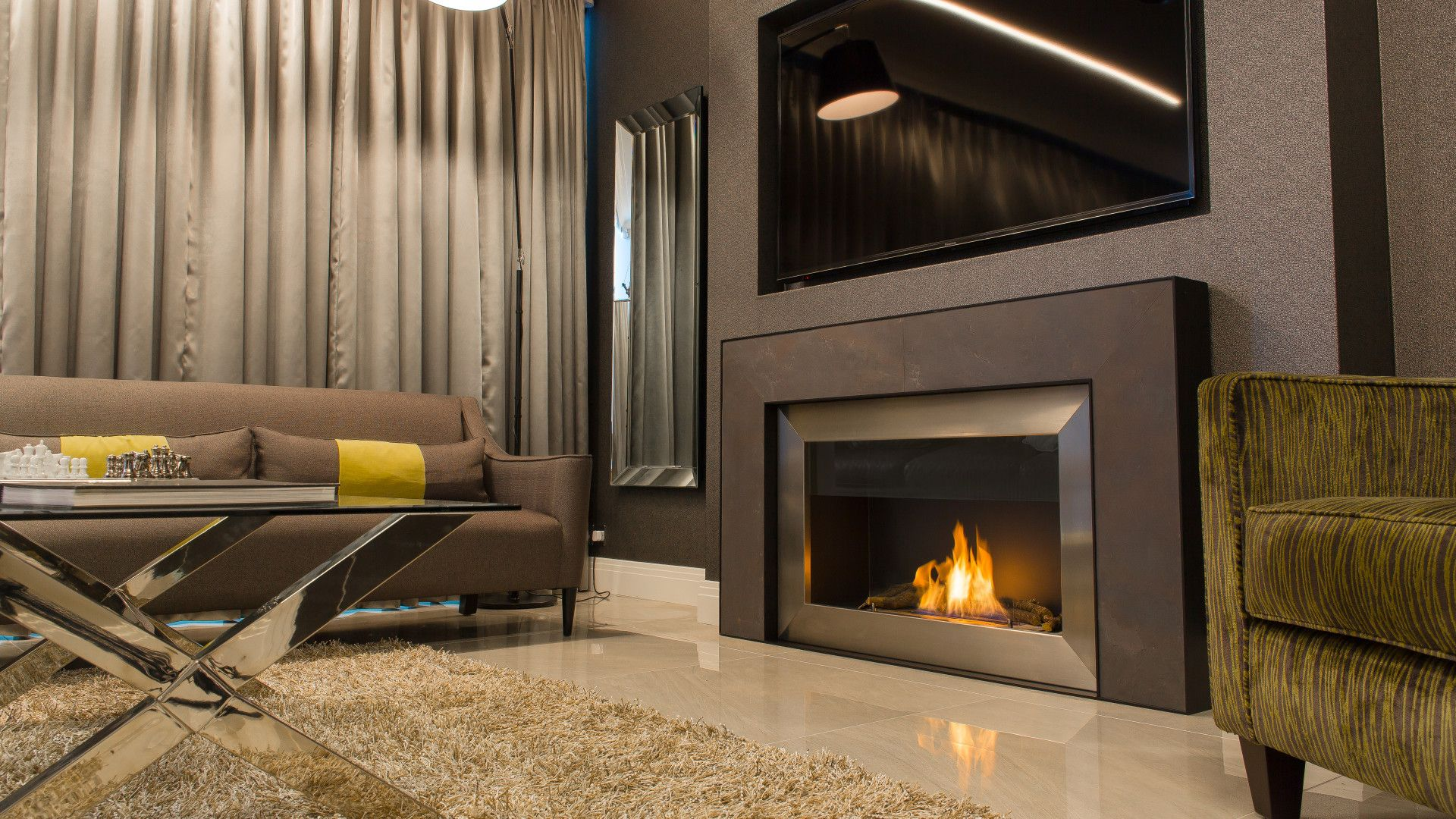 modern two sided fireplace double sided fire contemporary