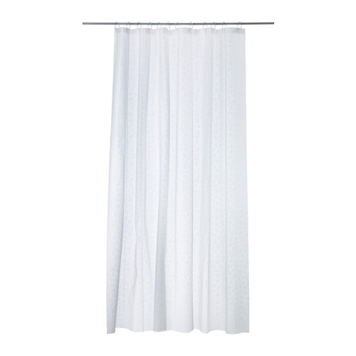 IKEA - INNAREN, Zasłona prysznicowa, , Łatwo dociąć do potrzebnej długości.