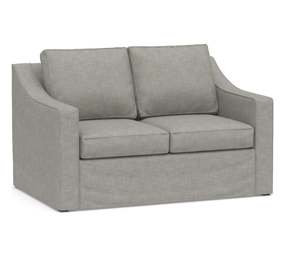 Cameron Slope Arm Deep Seat Slipcovered Sofa Furniture Slipcovers Slipcovers Grey Furniture