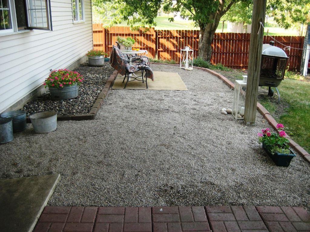 Awesome Backyard Gravel Patio Ideas, Enchanting Backyard ...