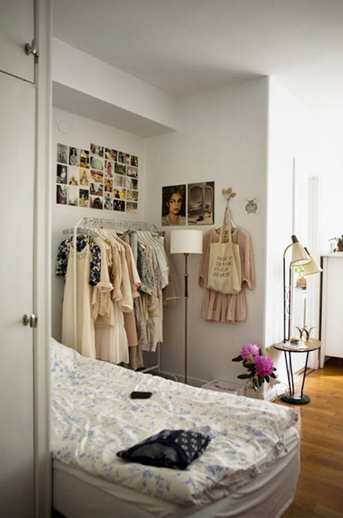 styling, rolling rack, garment rack, decor, small closets, how to ...