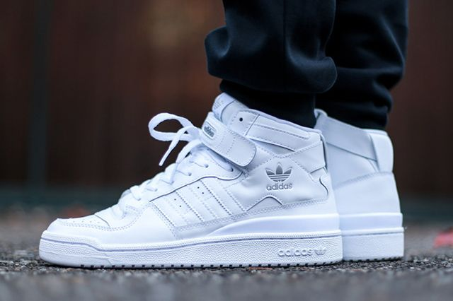 quality design be642 a886b ADIDAS FORUM MID (TRIPLE WHITE) - Sneaker Freaker