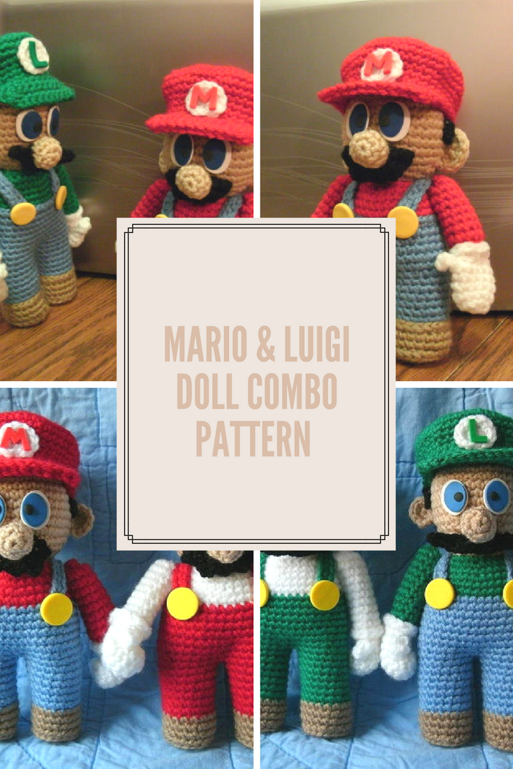 Cute Mario And Luigi Crochet Pattern Instant Download Crocheting