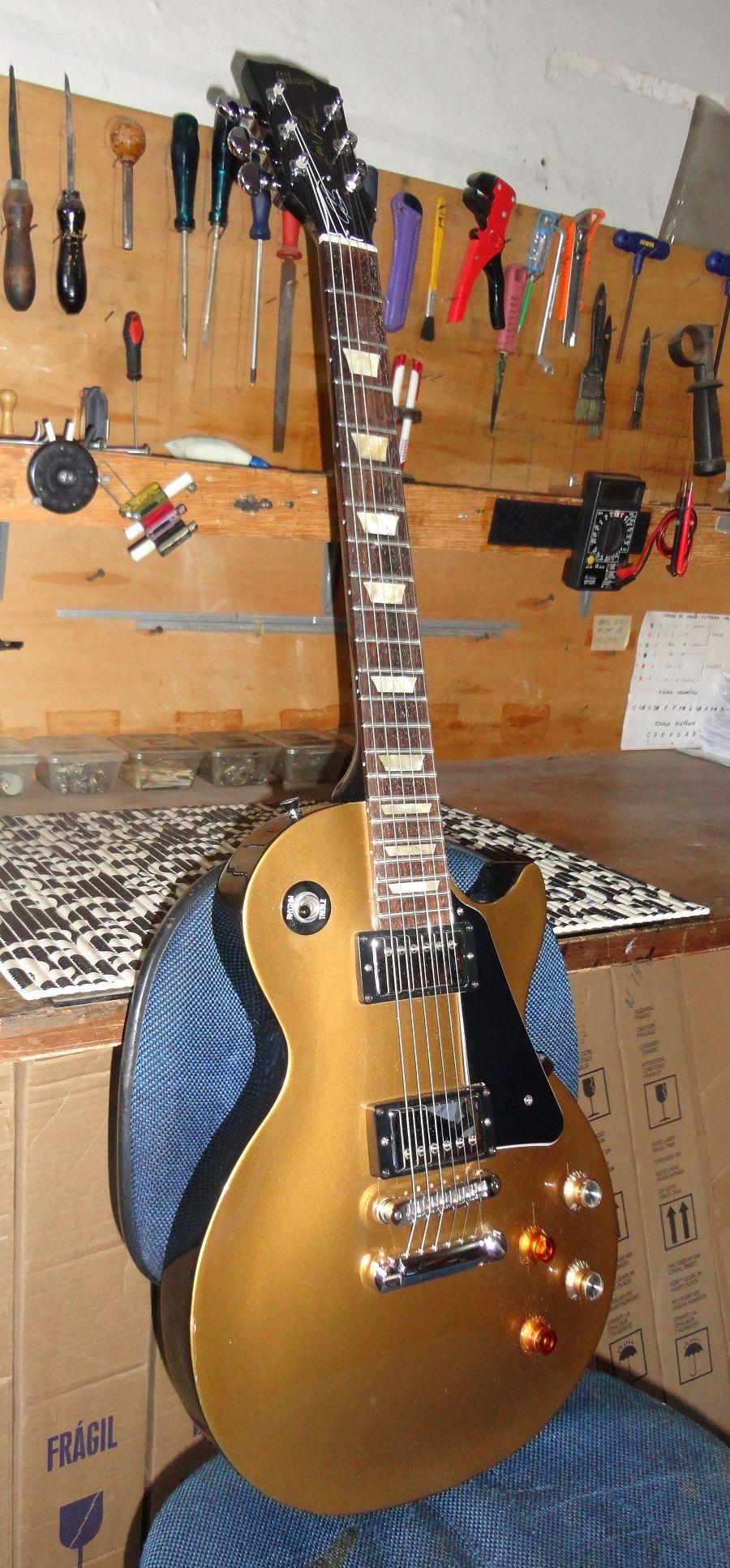 Guitarra Gibson Instalacao De Logo Mais Pintura Do Braco