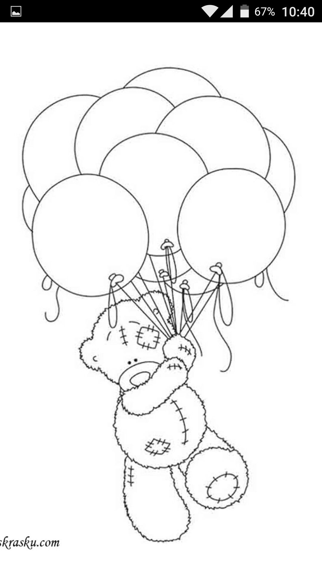 Pin by Vera Lucia on мишки  Bear coloring pages, Teddy bear