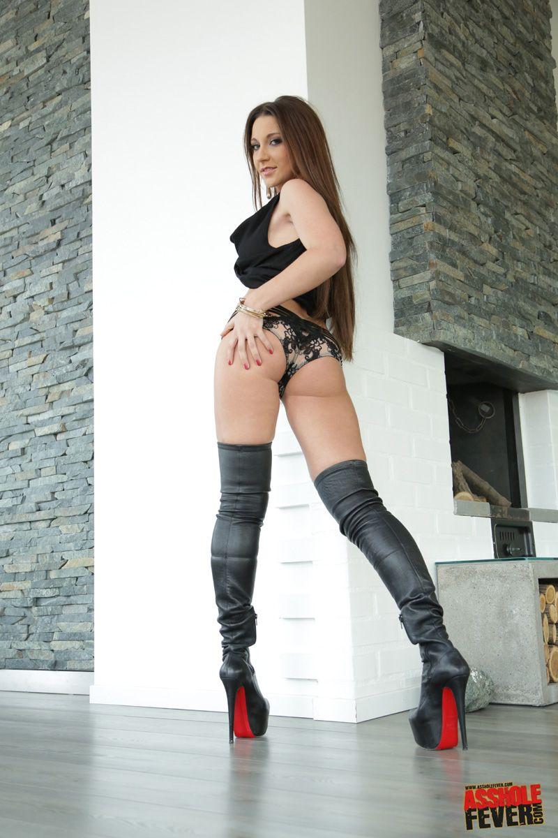 High heel boot porn