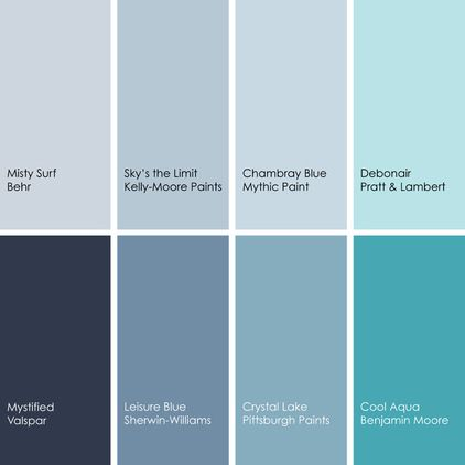 blue paint picks for dining rooms (clockwise from top left): 1
