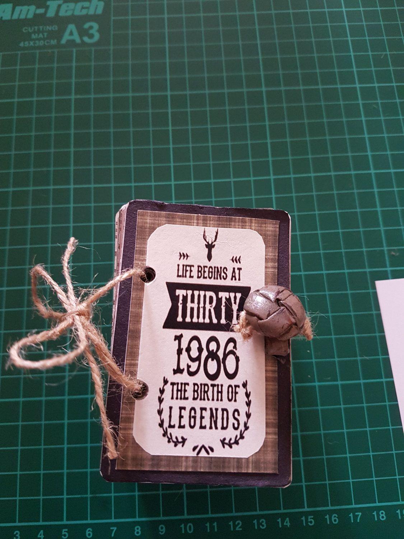 Personalised Memory Book Deck of Cards Milestone Birthday