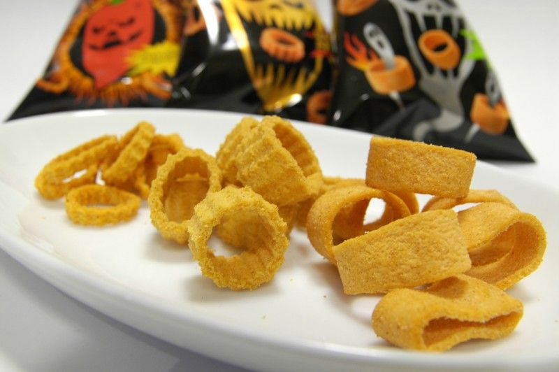 You can find a variety of snacks with extremely hot, spicy flavors in Japan.