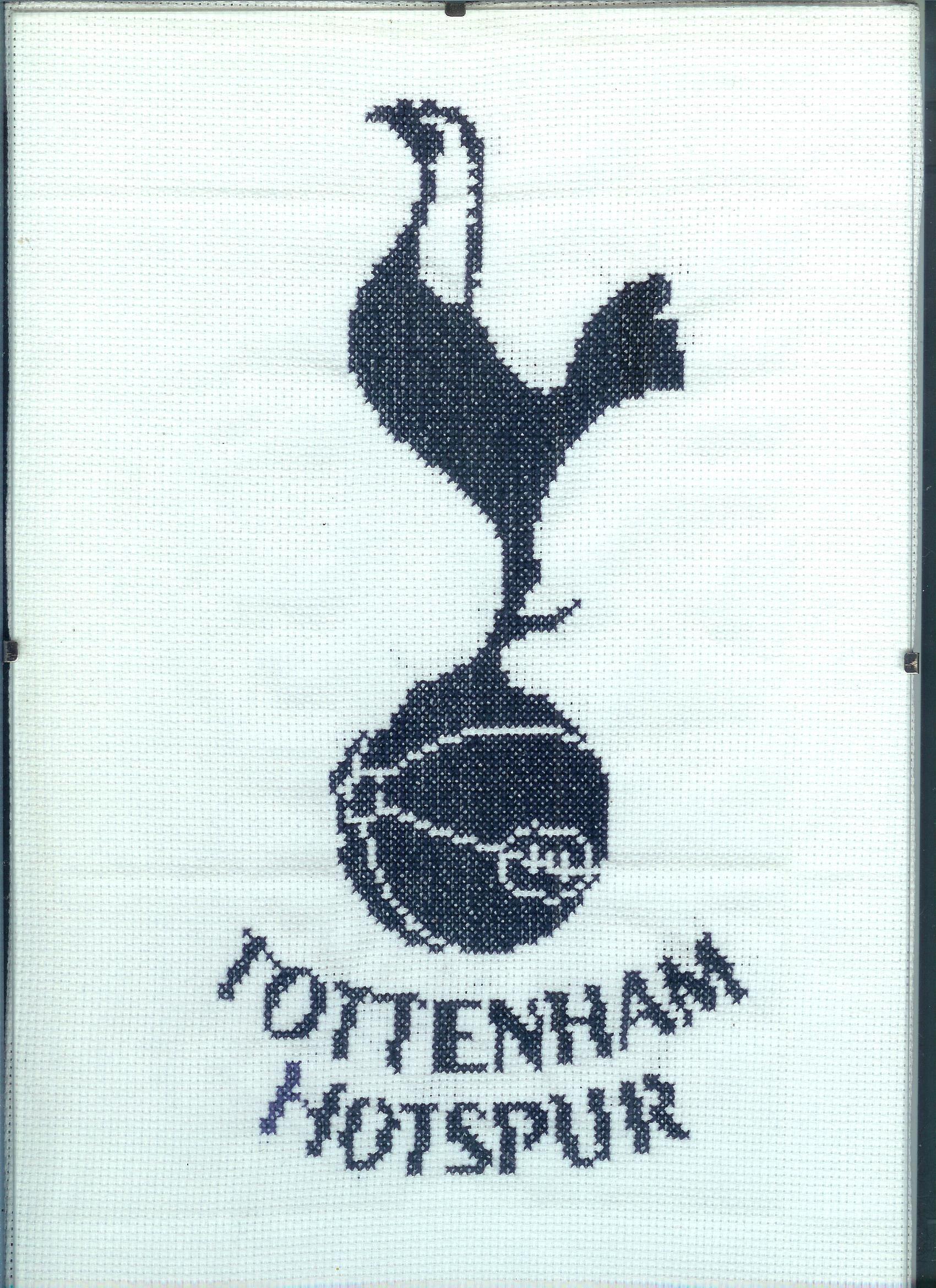Cross stitched Tottenham Hotspur birthday card – Tottenham Birthday Card