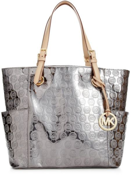 Michael By Kors Signature Patent East West Tote
