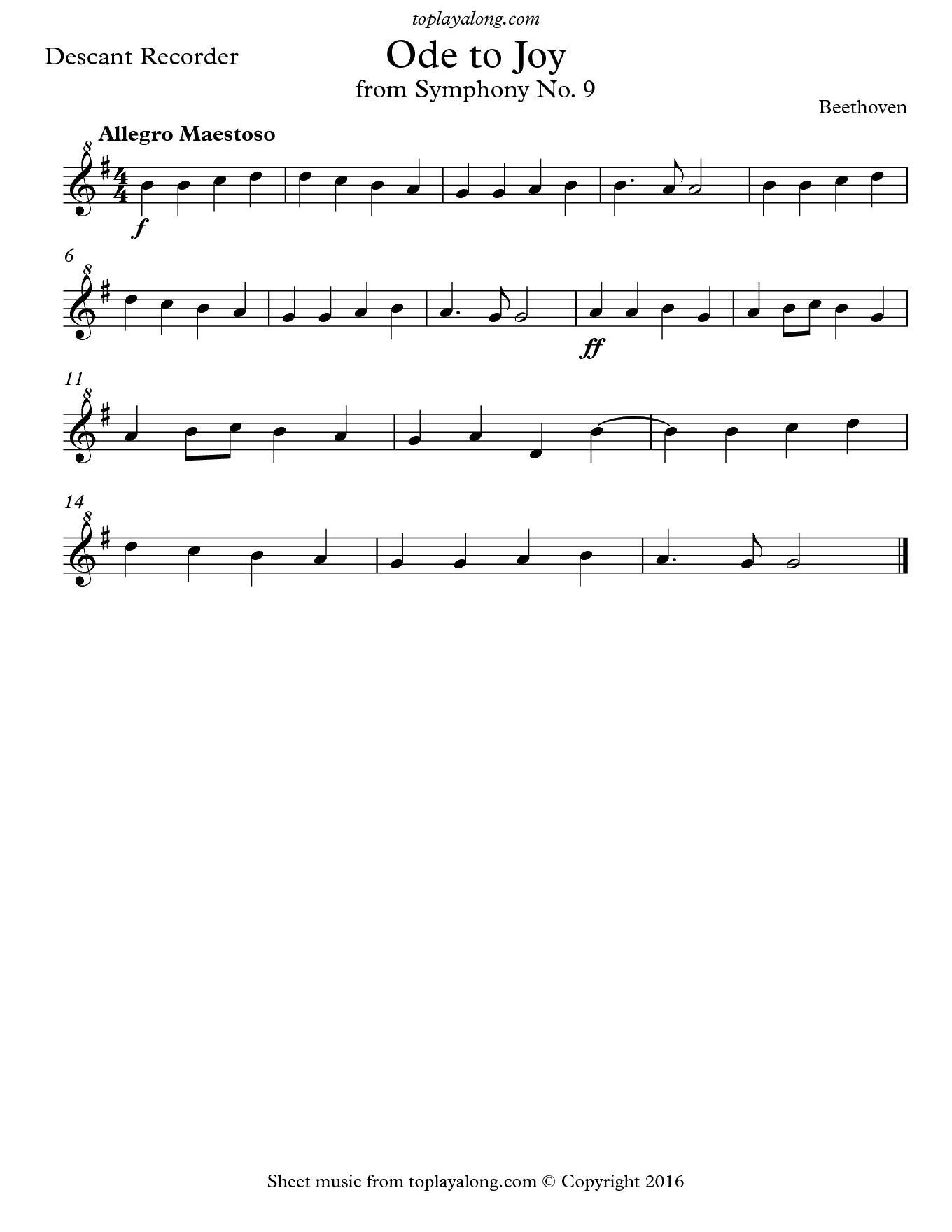 Image Result For Recorder Sheet Music Flejta Noty